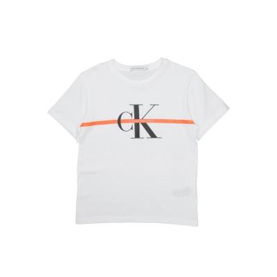 YOOX - CALVIN KLEIN JEANS T シャツ ホワイト 8 オーガニックコットン 100% T シャツ