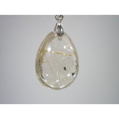 ルチルクォーツ(針水晶)のペンダントトップ  171216-