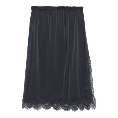 ICONS 7分丈スカート ブラック 40 シルク 100% / コットン / ナイロン 7分丈スカート