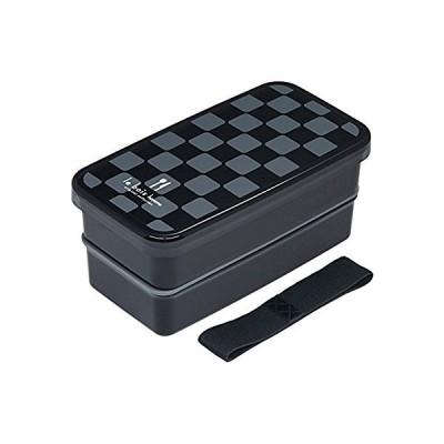 小森樹脂 角2段ランチBOX ルボアオム BK