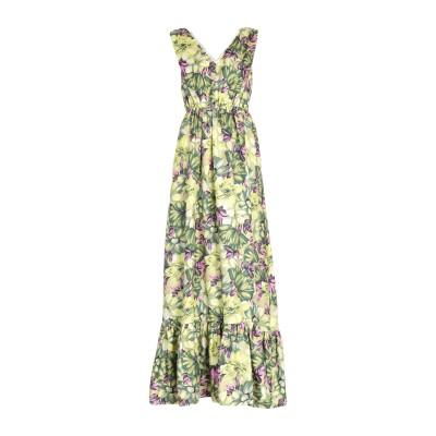 エムエスジーエム MSGM ロングワンピース&ドレス ライトグリーン 40 シルク 100% ロングワンピース&ドレス