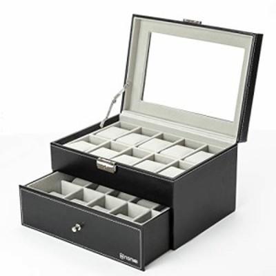 腕時計ケース 20区 NENIRI 時計ケース 20本用 アクセサリー g-shock 腕時計 収納 保管 ディスプレイ コレクション ガラス天板 マイクロフ