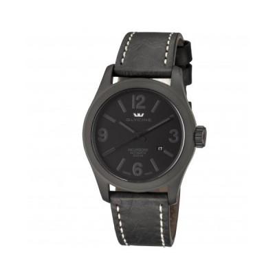Glycine メンズ 腕時計 Incursore Black Dial 自動巻き メンズ 革製 Watch 3874.999.LB9B