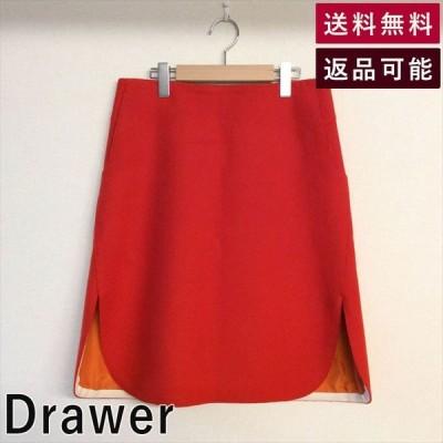 ドゥロワー Drawer スカート 赤  ドロワー ユナイテッドアローズ メゾン 台形 秋冬 C1008Y002-1127