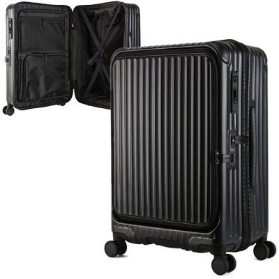 【カバンのセレクション】 カーゴ エアレイヤー スーツケース フロントオープン Mサイズ/60L ストッパー機能 CARGO AiR LAYER cat648ly ユニセックス ブラック フリー Bag&Luggage SELECTION