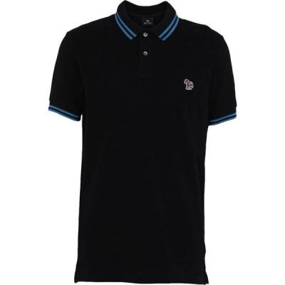 ポールスミス PS PAUL SMITH メンズ ポロシャツ スリム トップス Slim Fit Ss Polo Shirt Black