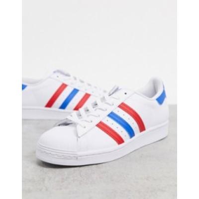 アディダス メンズ スニーカー シューズ adidas Originals Americana edition Superstar sneakers in white White