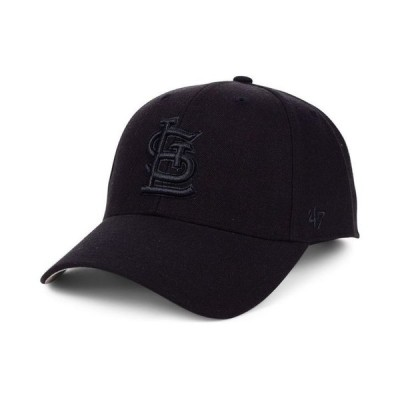 47ブランド メンズ 帽子 アクセサリー St. Louis Cardinals Black Series MVP Cap