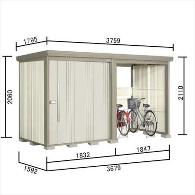 物置 屋外 おしゃれ タクボ物置 TP/ストックマンプラスアルファ TP-S37R15 多雪型 標準屋根 『追加金額で工事可能』 ムーンホワイト