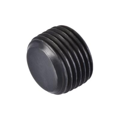 uxcell ソケットパイププラグ 内六角1/2NPTオスねじ 炭素鋼 ガーデンパイプ空気圧ソレノイドバルブ用 ブラック
