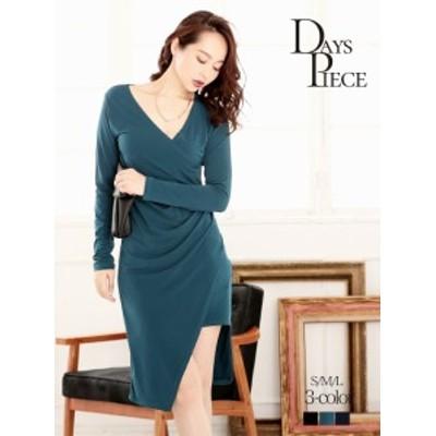 キャバ ドレス ワンピース パーティードレス DaysPiece 大人ワンピース ブルーグリーン ワンピー ナイトドレス