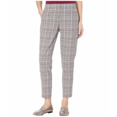トミー ヒルフィガー レディース カジュアルパンツ ボトムス Plaid Slim Leg Elastic Waistband Ankle Pants Scarlet Multi