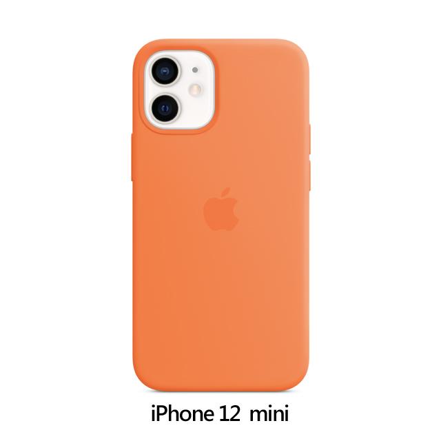 iPhone 12 mini MagSafe 矽膠保護殼 - 金橘色 Kumquat (MHKN3FE/A)