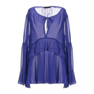 ANNARITA N ブラウス ファッション  レディースファッション  トップス  シャツ、ブラウス  長袖 ブルー