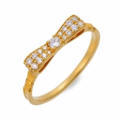 ゴールド リング 指輪 ダイヤモンド 彼女 記念日 ギフトラッピング 誕生日 送料無料 レディース