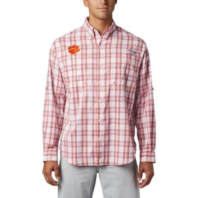 コロンビア シャツ トップス メンズ Columbia Sportswear Men's Clemson University Super Tamiami Button Down Shirt Orange