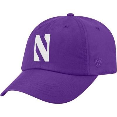 トップオブザワールド メンズ 帽子 アクセサリー Top of the World Men's Northwestern Wildcats Purple Staple Adjustable Hat