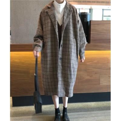 MANGROVE / グレンチェック ロングジャケットコート(裏キルティング) WOMEN ジャケット/アウター > チェスターコート