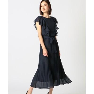 【ミューズ リファインド クローズ】 プリーツドレス レディース ネイビー M MEW'S REFINED CLOTHES