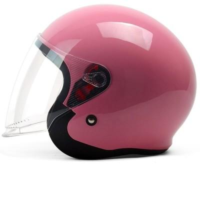 ヘルメット バイクヘルメット 半帽 男女兼用 ABS素材 高剛性 耐摩耗 UVカット 防霧レンズ シングルシールド 透明レンズ 通気吸汗