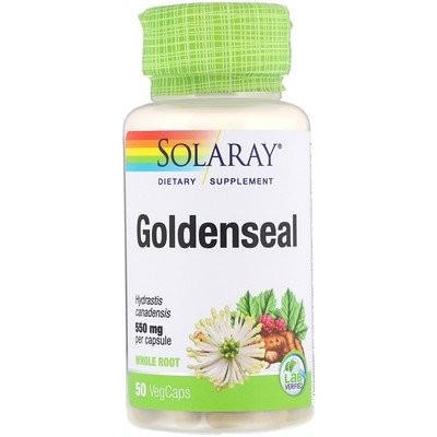 ゴールデンシール、550mg、植物性カプセル50粒