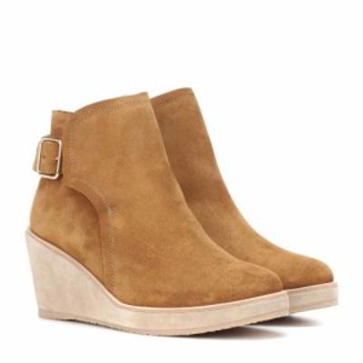 アーペーセー A.P.C. レディース ブーツ ショートブーツ シューズ・靴 Suede ankle boots Camel