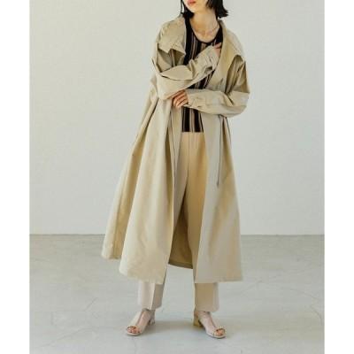 アウター 【羽織るだけで雰囲気漂う】ビッグシルエットスタンドネックフレアコート