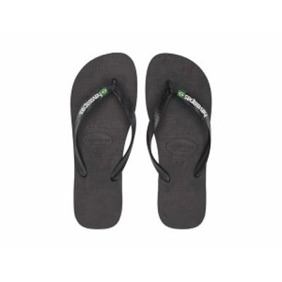 ハワイアナス メンズ サンダル シューズ Brazil Logo Flip Flops Black/Black