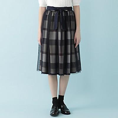 【オンラインストア限定】クレストブリッジチェックコンビリバーシブルスカート