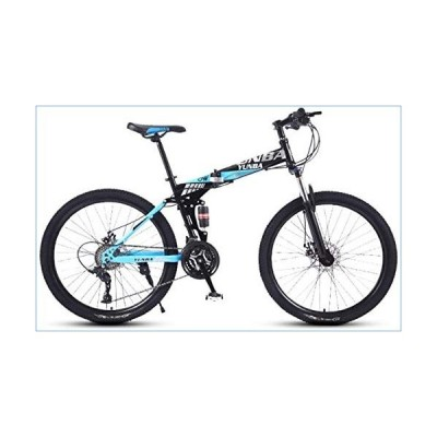 YIHGJJYP Mountain Bike 24 Speed Comfortable Folding Road Beach Bicycle Male and Female Students 24-inch Shift Double Shock Absorber Adult Dual Disc Ur