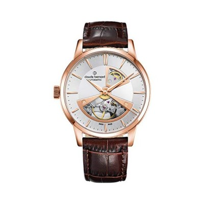 Claude Bernard Men's Swiss-Automatic Watch with Leather Strap, Brown, 20 (Model: 85017 37R AIR2) 並行輸入品