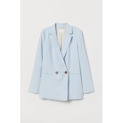 H&M - ダブルブレストジャケット - ブルー