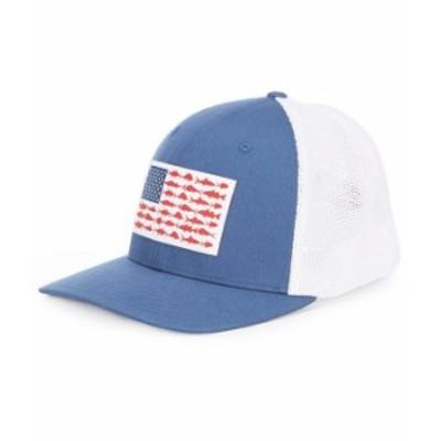 コロンビア メンズ 帽子 アクセサリー PFG Flag Mesh Cap Night Tide/Fish Flag