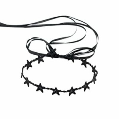 Black Lace Chokers Necklace for Women and Girls Sexy Adjustable Black Star Choker