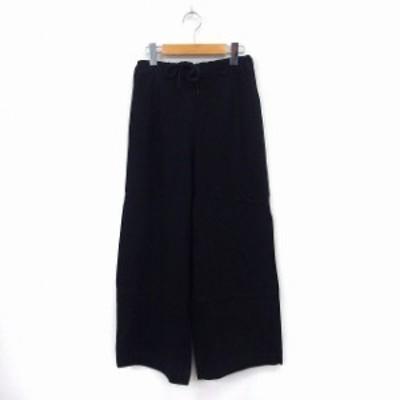 【中古】コーエン coen パンツ ロング ワイド ウエストゴム シンプル SMALL ネイビー /ST43 レディース
