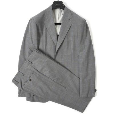 50%OFF BOGLIOLI ボリオリ テーラードスーツ 段返り3Bシングル 春夏 メンズ ウール100% チェック グレー