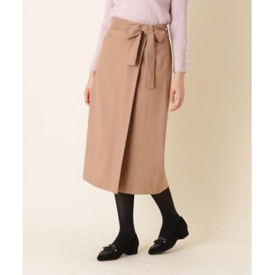 Couture Brooch(クチュールブローチ) 【手洗い可】ラップ風リボンベルトスカート