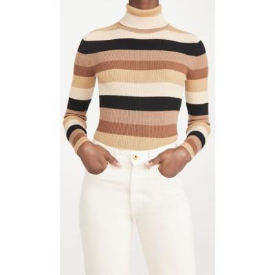 スタウド STAUD レディース ニット・セーター トップス Ken Sweater Camel Multi