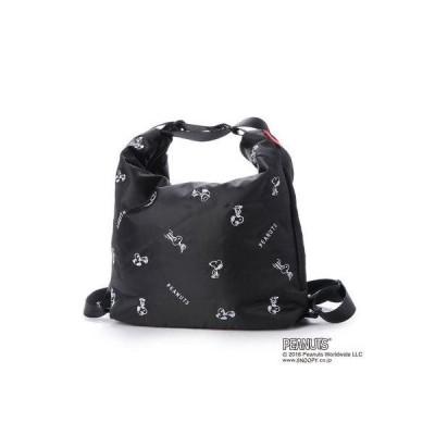ルートート ROOTOTEスヌーピー SNOOPY 刺繍 3Way トートバッグ LT セオルー エア PEANUTS 8127(BLACK)