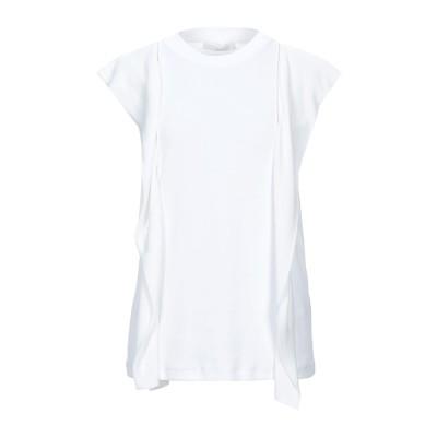 ファビアナフィリッピ FABIANA FILIPPI T シャツ ホワイト 42 コットン 94% / ポリウレタン 6% / アセテート / シル