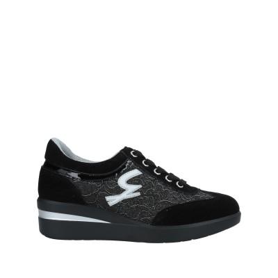 ガッティノーニ GATTINONI スニーカー&テニスシューズ(ローカット) ブラック 36 紡績繊維 / 革 スニーカー&テニスシューズ(ローカッ