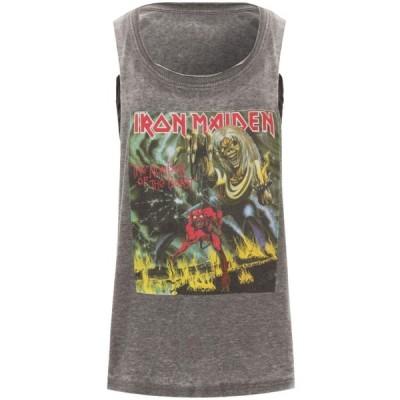 イレブン パリ Eleven Paris レディース ベアトップ・チューブトップ・クロップド トップス x Iron Maiden Iron4 Crop Tee gray/black