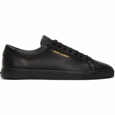 イヴ サンローラン Saint Laurent メンズ スニーカー シューズ・靴 Black Calfskin Andy Sneakers Black