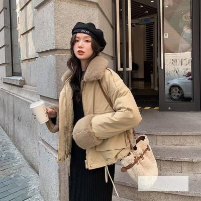 ダウンジャケット 2020 冬 新しい スリム ダウンジャケット ゆるい ラムウール 綿の服 綿入れ 綿の服 コート 20代 ショート レディース 韓国風 30代 40代 韓風
