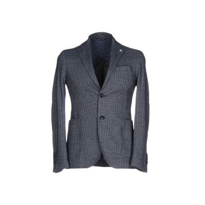 ALESSANDRO GILLES テーラードジャケット ダークブルー 50 コットン 60% / ポリエステル 40% テーラードジャケット