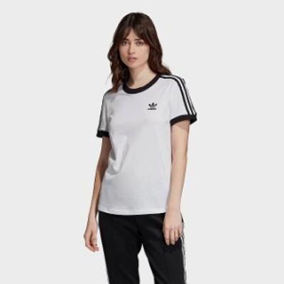 アディダス レディース Tシャツ adidas Originals 3-Stripes T-Shirt 半袖 White/Black