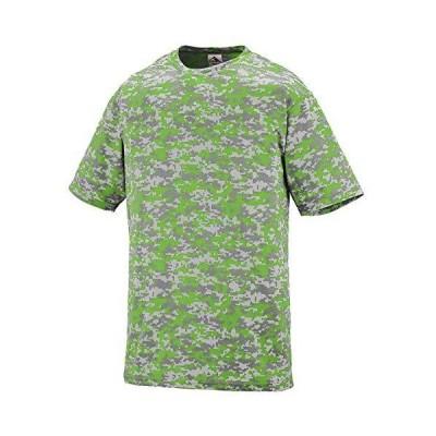Augusta Sportswear 1798 Men's Digi Camo Wicking T-Shirt, 4X-Large, Lime Dig