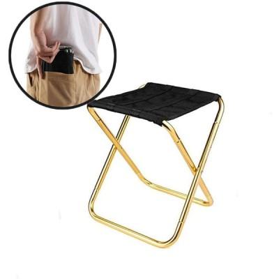 愛の巣 折りたたみ椅子 アウトドア チェア キャンプ 椅子 折り畳み椅子 ポケットチェア イス 携帯便利 収納袋付き (黒2)