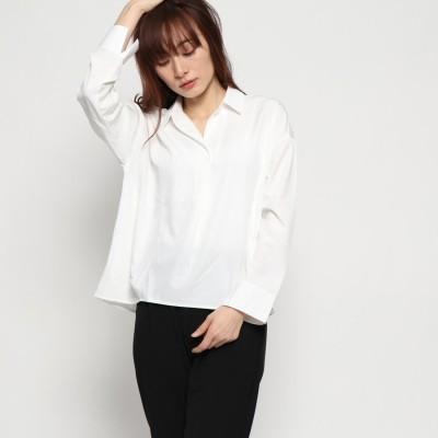 ジーラ GeeRA 裾タックスキッパーシャツ (ホワイト)