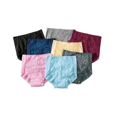 綿100%フライスレーシー深ばきショーツ8枚組(M) スタンダードショーツ, Panties